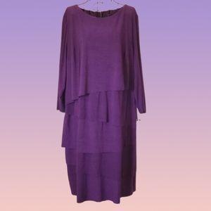 NWT! PLUS Tahari Layer Dress